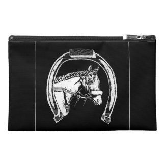 Horse and Horseshoe Scratch Art Travel Accessories Bag