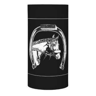 Horse and Horseshoe Scratch Art Flameless Candle