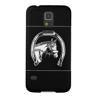 Horse and Horseshoe Scratch Art Galaxy S5 Cover