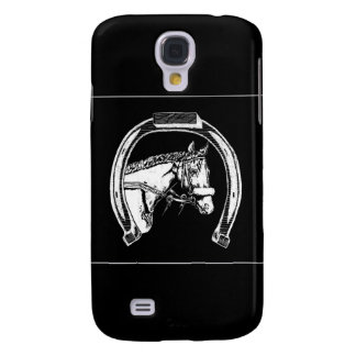 Horse and Horseshoe Scratch Art Samsung Galaxy S4 Cover