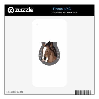 HORSE AND HORSESHOE SKIN FOR THE iPhone 4