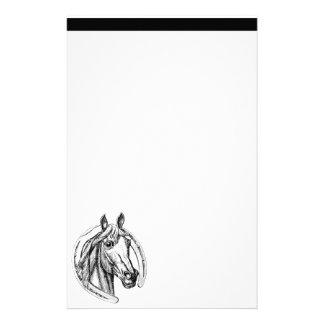 Horse and Horseshoe Stationary Stationery Paper