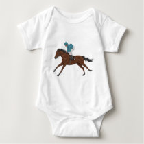 Horse and Jockey Baby Bodysuit