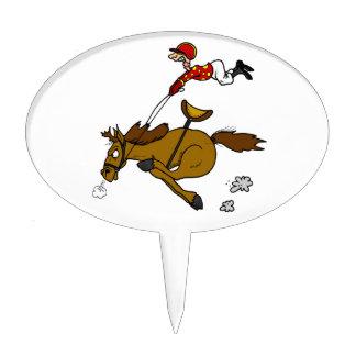 horse and jockey cake topper
