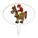 horse and jockey cake topper