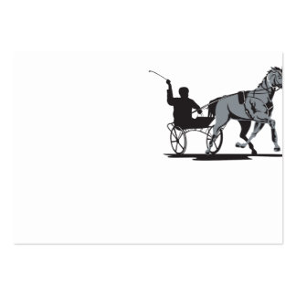 Horse and Jockey Harness Racing Business Card