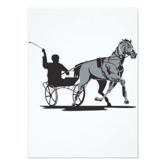 Horse and Jockey Harness Racing 14 Cm X 19 Cm Invitation Card