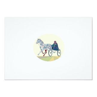 Horse and Jockey Harness Racing Low Polygon Card