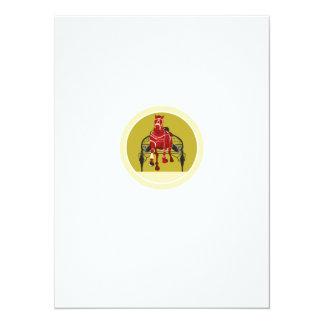 Horse and Jockey Harness Racing Retro 14 Cm X 19 Cm Invitation Card