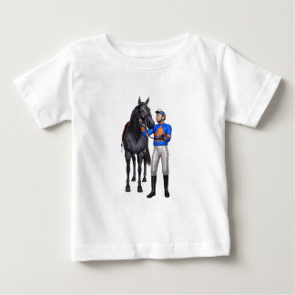 Horse and Jockey in Orange and Blue Baby T-Shirt