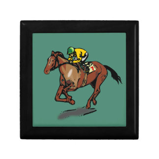 Horse and Jockey Keepsake Box