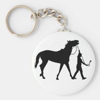 Horse and Jockey Keychain