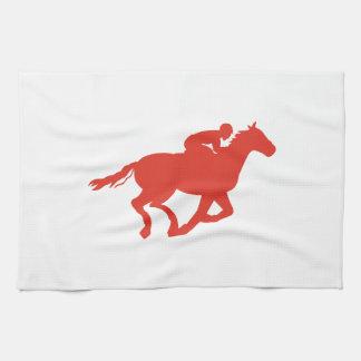 HORSE AND JOCKEY HAND TOWELS