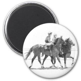 Horse and Jockey Magnet