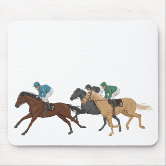 Horse and Jockey Mouse Pad