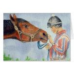 Horse and Jockey Original Card