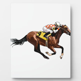 Horse And Jockey Plaque