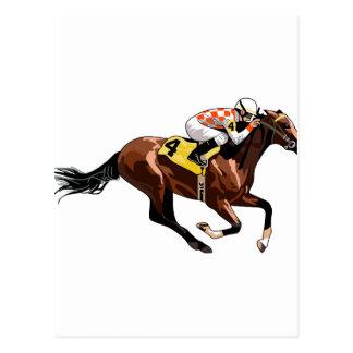 Horse And Jockey Postcard