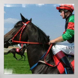 Horse and Jockey Poster Print