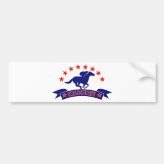 Horse and jockey racing melbourne cup bumper stickers