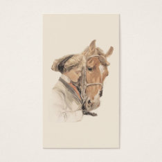Horse And Lady Gorgeous Business Card at Zazzle