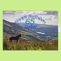 Horse and landscape 65th birthday card