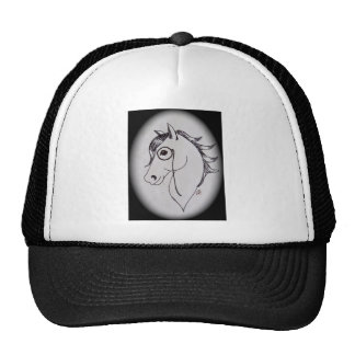 Horse and monocle trucker hat
