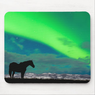 Horse and Northern Lights, Yukon Mouse Pad