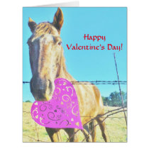 Horse and pink &  Heart Card
