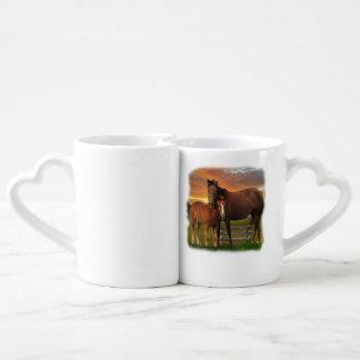 horse and poney coffee mug set