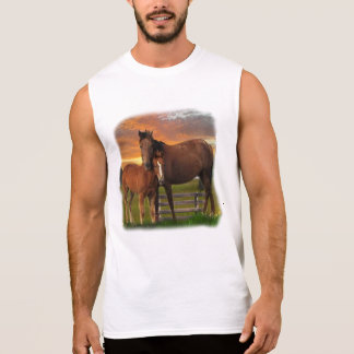 horse and poney sleeveless shirt