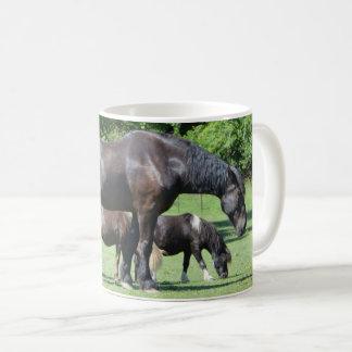 Horse and Ponies Farm Scene Coffee Mug