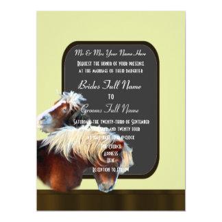 Horse and pony equestrian wedding card