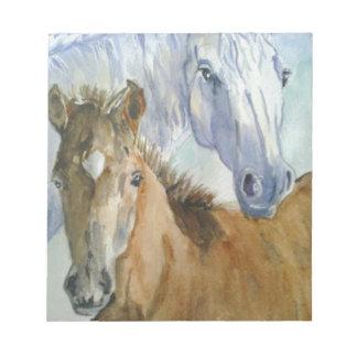 Horse and pony notepad