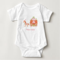 Horse and Pumpkin Carriage Baby Girl Princess Tee