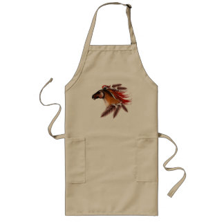 Horse and Red Feathers Apron