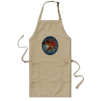 Horse and Red Feathers Framed Apron