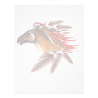 Horse and Red Feathers Letterhead