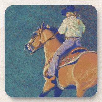 horse and rider beverage coaster