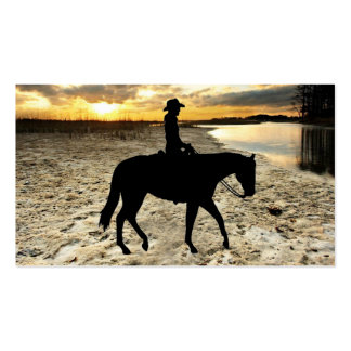 Horse and Rider Business Card