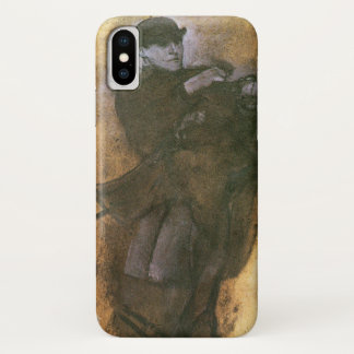 Horse and Rider by Edgar Degas, Vintage Study Art iPhone X Case