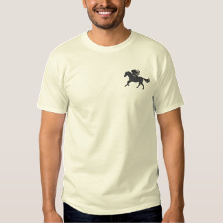 Horse and Rider Embroidered T-Shirt