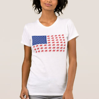 Horse and Rider Flag Design Shirt