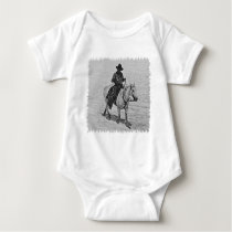 Horse and Rider (illustration) Baby Bodysuit
