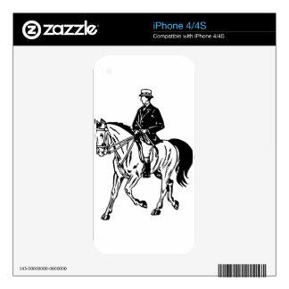 Horse and Rider iPhone 4 Skin