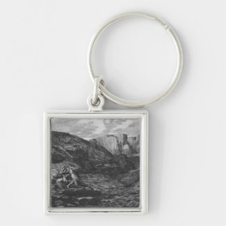 Horse and Rider Keychain