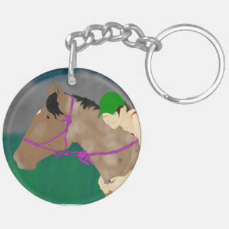 Horse and Rider Love Keychain