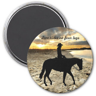 Horse and Rider Magnet