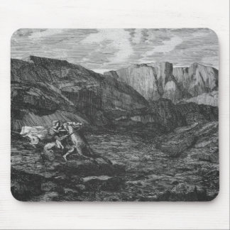 Horse and Rider Mouse Pad