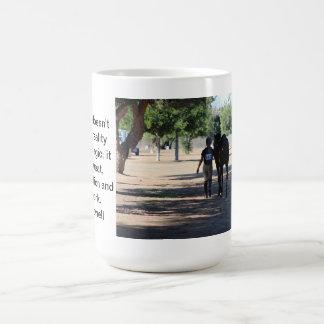 horse and rider classic white coffee mug
